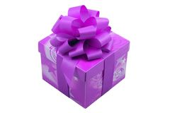 Purple Present Stock Photo