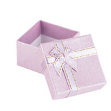 Purple present box Stock Photography