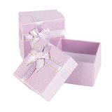 Purple present box Royalty Free Stock Photos