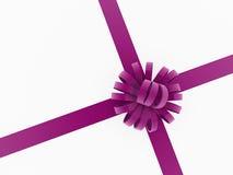 Purple present ribbon concept Stock Photos