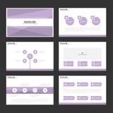 Purple presentation templates Infographic elements flat design set for brochure flyer leaflet marketing. Advertising stock illustration