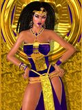 Purple princess of ancient Egypt Royalty Free Stock Photo