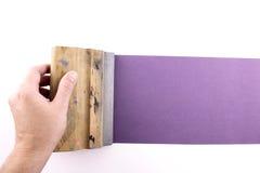 Purple printmaking. Photo of Purple printmaking on white background Stock Image