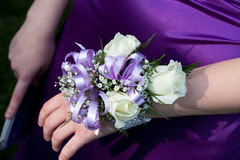 Purple Prom Corsage Royalty Free Stock Photo