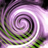 Purple Radial Swirl Green Lines. Purple and white radial flowing swirl with green lines / beams / streaks running through it royalty free stock image