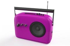 Purple radio Stock Photos