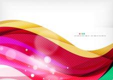 Purple rainbow swirl background Stock Images