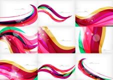 Purple rainbow swirl background Stock Image