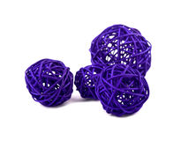 Purple rattan ball on white Stock Photography