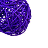 Purple rattan ball on white Stock Photo