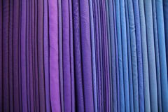 Purple raw silk thread Stock Photo