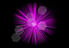 Purple rays Royalty Free Stock Photos