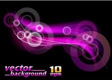 Purple rays Stock Image