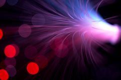Purple rays explosion Stock Photography