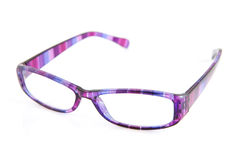Purple reading glasses Royalty Free Stock Photo