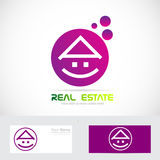 Purple real estate house Stock Photography