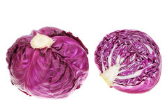 Purple and red cabbage in the cut. Stock Photo
