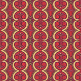 Purple and red floral pattern with swirls Royalty Free Stock Photos