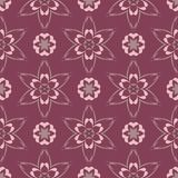 Purple red floral seamless pattern. Background with flower design elements. For wallpapers, textile and fabrics Stock Photos
