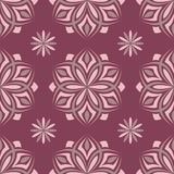 Purple red floral seamless pattern. Background with flower design elements. For wallpapers, textile and fabrics Stock Images
