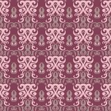 Purple red floral seamless pattern. Background with flower design elements. For wallpapers, textile and fabrics Royalty Free Stock Images
