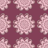 Purple red floral seamless pattern. Background with flower design elements. For wallpapers, textile and fabrics Royalty Free Stock Photography