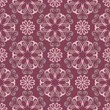 Purple red floral seamless pattern. Background with flower design elements. For wallpapers, textile and fabrics Royalty Free Stock Photo