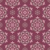 Purple red floral seamless pattern. Background with flower design elements. For wallpapers, textile and fabrics Royalty Free Stock Image