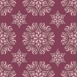 Purple red floral seamless pattern. Background with flower design elements. For wallpapers, textile and fabrics Stock Photography