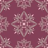 Purple red floral seamless pattern. Background with flower design elements. For wallpapers, textile and fabrics Stock Photo