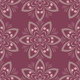 Purple red floral seamless pattern. Background with flower design elements. For wallpapers, textile and fabrics Royalty Free Stock Photos