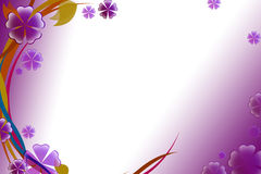 purple and red flower and waves, abstract background Stock Photo