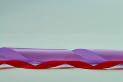 Purple and red  ribbon Stock Photo