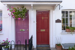 Purple and red terrace doors, Henley on Thames Royalty Free Stock Image