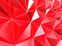 Purple red triangle poligons pattern wall background. 3d render illustration Stock Photography