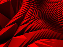 Purple red triangle poligons pattern wall background. 3d render illustration Stock Image