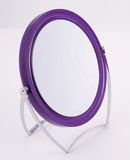 Purple Resin framed mirror. Mirror for the bathroom, purple in colour Royalty Free Stock Photos