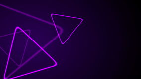 Purple retro neon shiny triangles motion background stock video footage