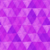 Purple retro textile triangles seamless pattern Stock Photos