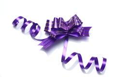 Purple ribbon. Isolated on white background Stock Photo