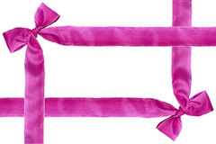 Purple ribbon. Purple ribbon on white background with copyspace for your text Royalty Free Stock Images