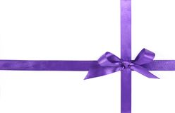 Purple  ribbon Stock Image