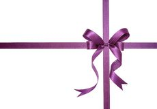Purple ribbon stock photography