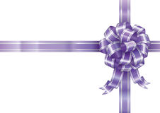 Purple Ribbon. Bow isolated on white background, vector illustration layered Royalty Free Stock Images