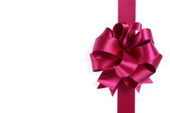 Purple ribbon with bow Stock Image