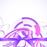 Purple ribbon and bow abstract background Royalty Free Stock Images