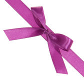 Purple ribbon with a bow diagonally Royalty Free Stock Photos