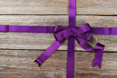 Purple ribbon Royalty Free Stock Photos