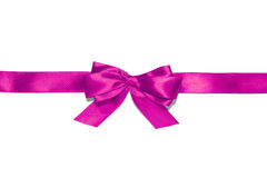 Purple  ribbon and bow Stock Photos