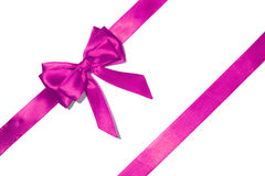 Purple  ribbon and bow Royalty Free Stock Images
